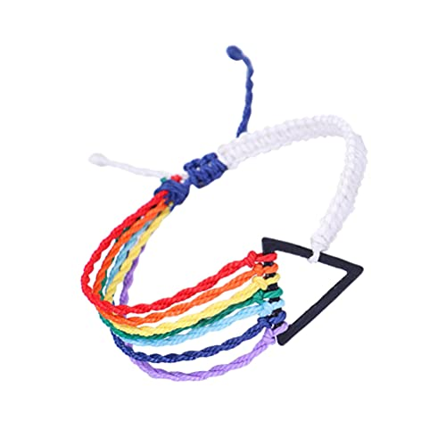 ABOOFAN Pulseras Trenzadas de Arco Ajustable Cuerda Trenzada Amistad Pulsera Colorida Hecha a Mano Joyería Regalo para Gay Lesbianas LGBT Pride Hombres Mujeres