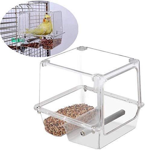 JFZCBXD Vogel-Zufuhren für kleine Vögel Papageien-Feeder Garden Bird Feeder Vogelfutterlagerung Vogel-Zufuhren für Cage löschen Bird Feeder Mealworm Feeder