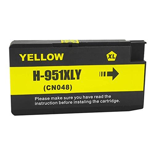Cartucho de tinta compatible de repuesto para HP950XL 951XL 950951 con chip Compatible con HP Officejet Pro 251DW 276DW 8100 8600 8610 8620 8630 8640 8660 8615 8625, 1 paquete 950XL 951XL