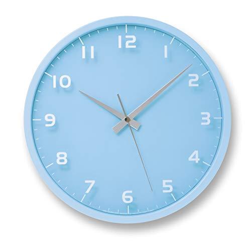 nine clock ライトブルー 電波時計 LC08-14W LBL