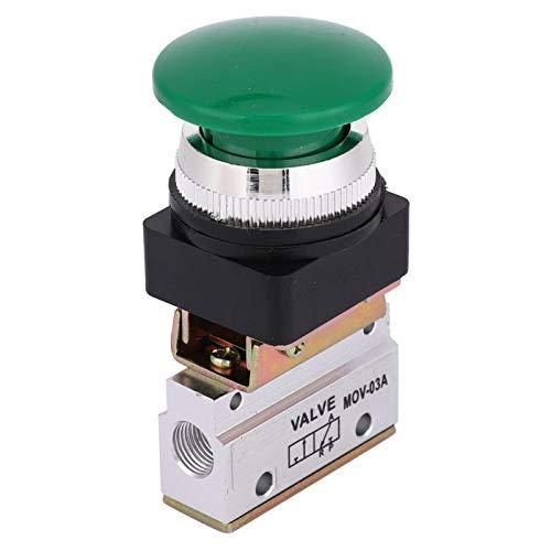 LANTRO JS - Válvula mecánica neumática G1/8, interruptor de botón pulsador de 2 posiciones y 3 vías MOV-03A
