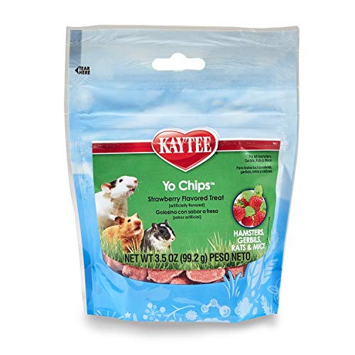 Kaytee Fiesta Strawberry Flavor Yogurt Chips for Small Animals, 3.5-oz bag