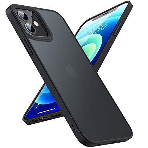 TORRAS Hülle Kompatibel mit iPhone 12 Pro/Kompatibel mit iPhone 12 Schwarz