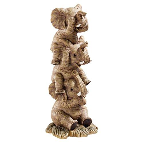 Design Toscano Elefanten - Figur, Maße: 10 x 4 x 25,5 cm