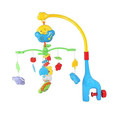 Lihgfw Babybett Glocke Spielzeug Rassel Musik Rotierende Nachts Glocke Babybett um das Bett Anhänger Spielzeug Weiche Sound Sleep Hilfsmittel Abnehmbare Rassel (Color : Multi-Colored)