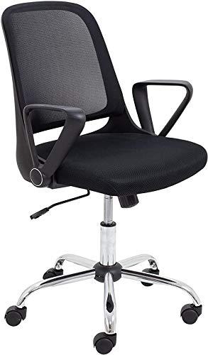 Sedia da ufficio con braccioli Sedia daufficio regolabile per la casa con girevole e ruote inretenera