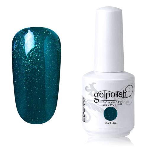 Vernis à ongles gel de couleur 15 ml - Vernis à fond de teint - Nail Art - DIY (1584-vert foncé)