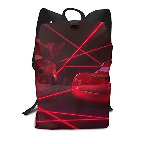 Cars Ligh-tning Mc-queen Mochila para estudiantes de impresión de bolsas escolares impermeable mochila de viaje para adolescentes mochila para ordenador portátil mochila escolar 29L* 15W* 40H cm