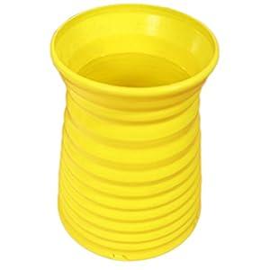 Outflower Sólido simple vaso de plástico de color Decoración del hogar Floreros florero de color, Amarillo, 13*9*7cm