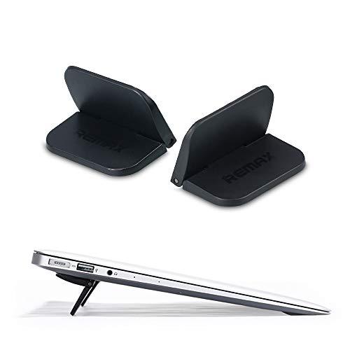 Andiker Mini Laptop Ständer, Tragbarer Tisch Laptopständer, Unsichtbar Notebook-Ständer, Universal Notebook-Hebeständer für MacBook, iPad bis 15 Zoll,Schwarz