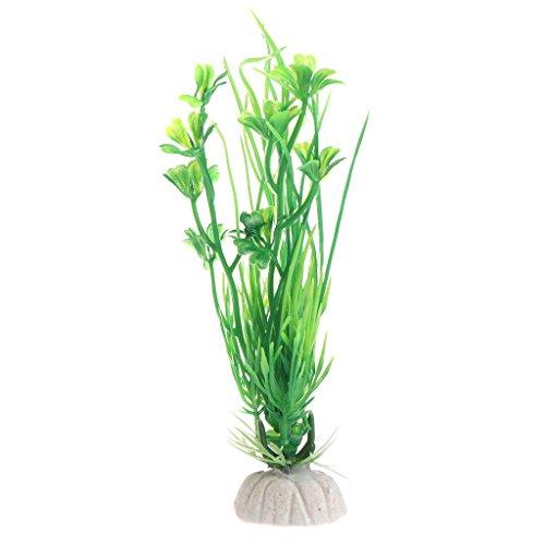 ZOUCY Design Künstliche Plastik Aquarium Pflanzen Gras Hintergrund Fishtank Dekoration