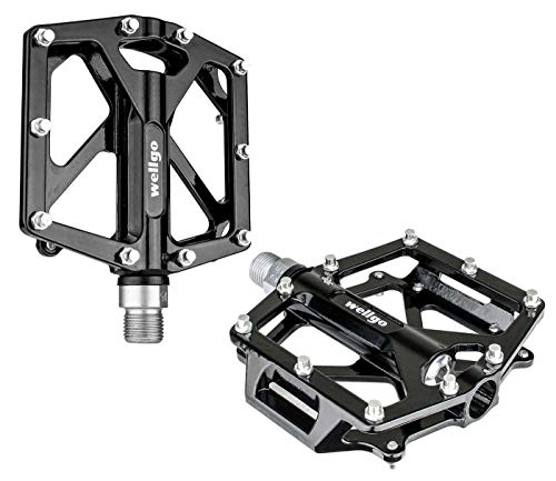 Haro Lineage Flat Pedals 9//16 Black Alloy Sealed Bearings w// Adjustable Pins