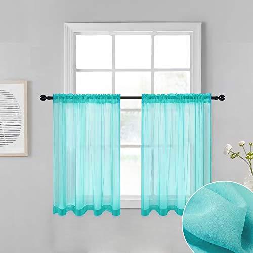 cortina turquesa fabricante MIULEE