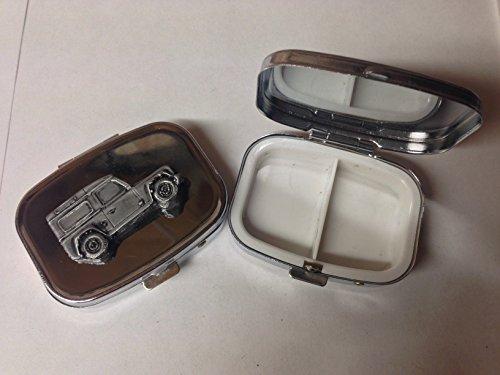 Preisvergleich Produktbild Defender ref115 Pillendose aus Metall,  mit Zinn-Effekt,  silberfarben