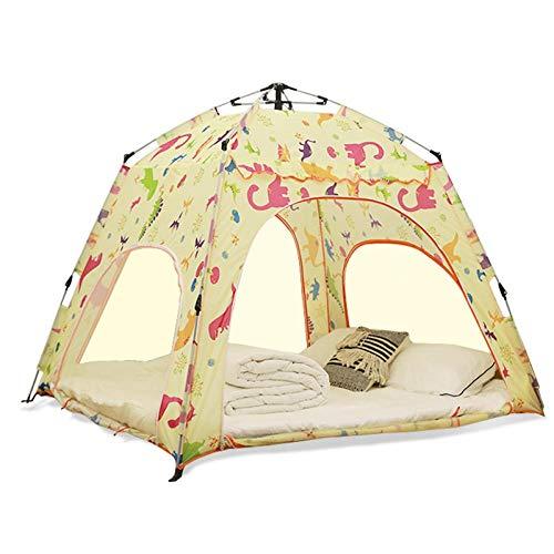 Helt automatiskt inomhus tält, barns lekhus, vuxen hushållsäng, vindtätt och värme, myggsäker singel och dubbel netto