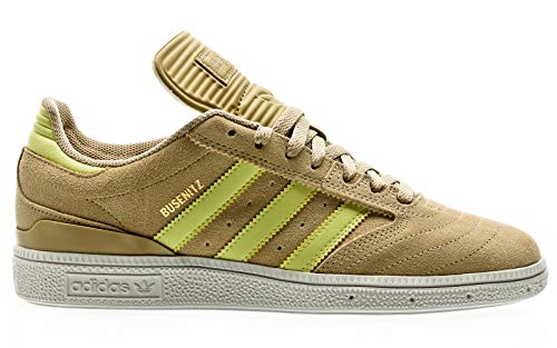 adidas Skateboarding Busenitz, Savannah-Yellow Tint-Footwear White, 10