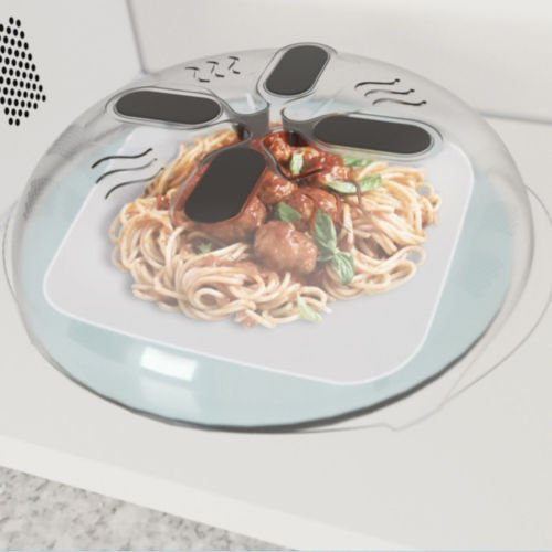 TryMarket(TM) New Food Splatter Guard Microwave Hover Anti-Sputtering Cover with Steam Vents
