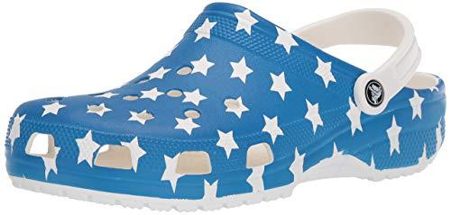 Crocs Men's and Women's Classic American Flag Clog Comfort Slip On