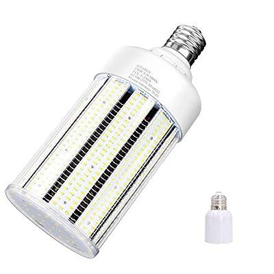 100W LED Corn Cob Light Bulb,Replace for 400 Watt Metal Halide HPS Mercury Vapor CFL HID lamp,5000K E39 Mogul Base,for Commercial and Industrial Lighting Bay Light Fixture Wearehouse Workshop Gyms