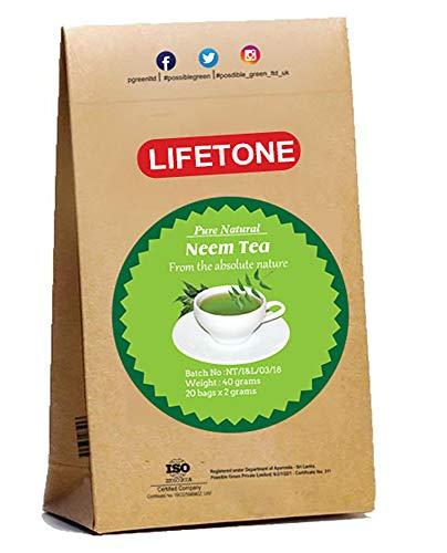 Lifetone the tea for better life, Neem Leaf Tea | Teatox Extreme Detox | Herbal Tea |100% Natural and Tropics (20 Teabags)