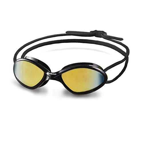 HEAD Erwachsene Schwimmbrille Tiger Mid Race Mirrored, Black-Smoke, One Size