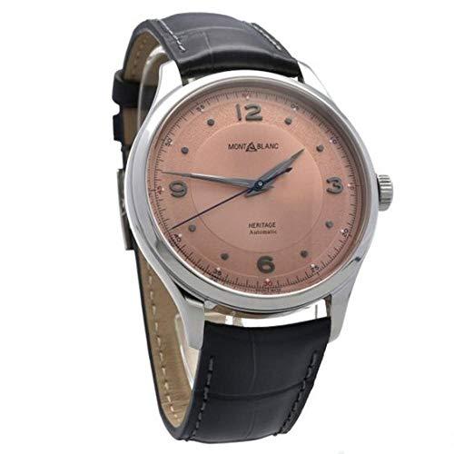 Montblanc orologio uomo Heritage Automatic 40mm Acciaio salmone alligatore Grigio 119944