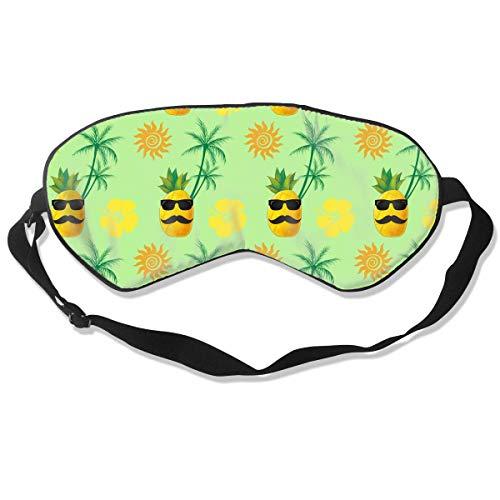 Coconut Trees Hibiskus Sonne Ananas Sonnenbrille Augenmaske Schlafmaske 100% doppelseitige Seide...