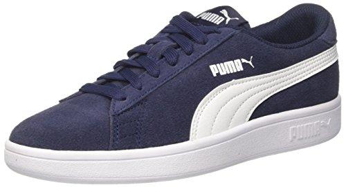 Puma Smash V2 SD Jr, Scarpe da Ginnastica Basse Unisex – Bambini, Blu (Peacoat White), 38 EU