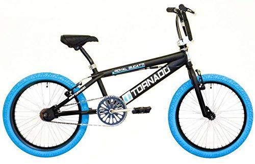 Bike Fun TORNADO 55cm de 20pouces garçons/filles velge Frein Noir mat/Bleu