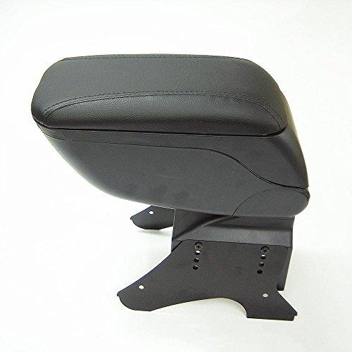 CarJoy 48014 - Armadietto universale scorrevole per consolle centrale, in ecopelle, colore: Nero