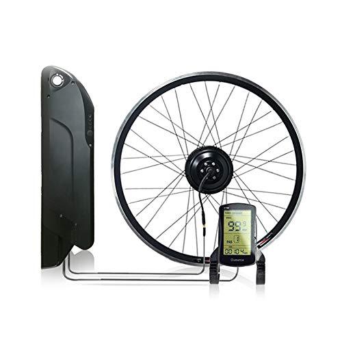 CARACHOME Kit de conversión de Bicicleta eléctrica con batería, 26', 27.5', 700C, 36V / 48V 350W / 500W, Cubo de Rueda Trasera E-Bike Kit de Motor E-Bike con LCD,48v 500w,27.5'