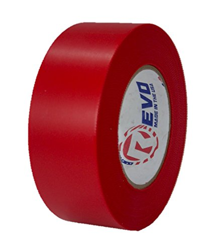 """REVO Preservation Tape/Heat Shrink Wrap Tape (2"""" x 60 Yards) Made in USA (RED) Poly Tape - Electrical Tape - Asbestos Removal Tape (PINKED Edge) Single ROLL (Economy: 7.5 MIL Thickness)"""