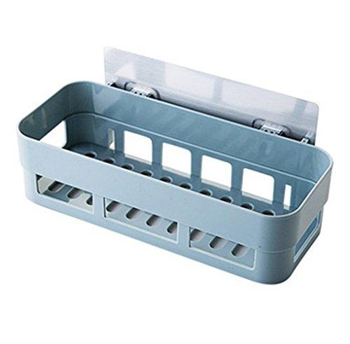 fish Salle de Bain en Plastique adh/ésif Shelf Panier de Rangement Mural Punch-Rack Gratuit Salle de Bain Produits Organisateur