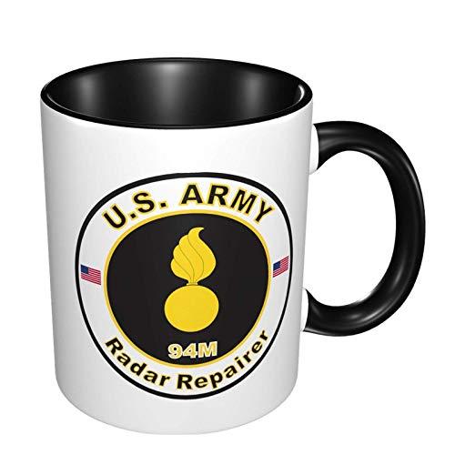 Taza de doble color resistente a altas temperaturas que no se decolora reparador de radar Mos 94m del ejército estadounidense