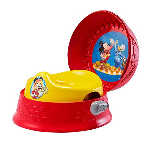 Mickey Mouse 3-in-1 Potty System | Use with Free Share The Smiles App for Unique Encouragement During Training | Scan Stickers for Animated Rewards | Fun Sounds | Easy Clean Design