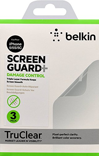 Belkin Apple iPhone SE, 5, 5S and 5C True Clear Screen Protectors Damage...