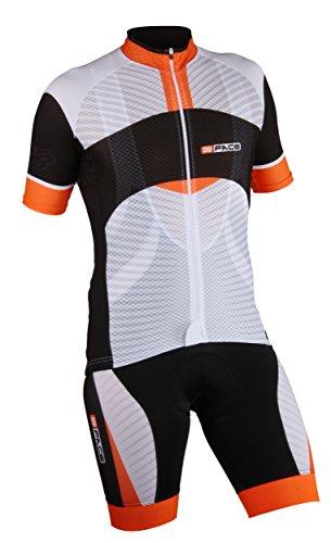 Threeface Completo Estivo Ciclismo Maglia + Salopette Axe Traspirante Abbigliamento Bici (XL)