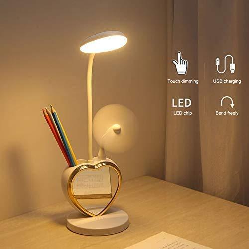 Tafellamp oplaadbare multifunctionele LED mobiele telefoon houder basis magneet make-up spiegel lamp USB bureaulamp