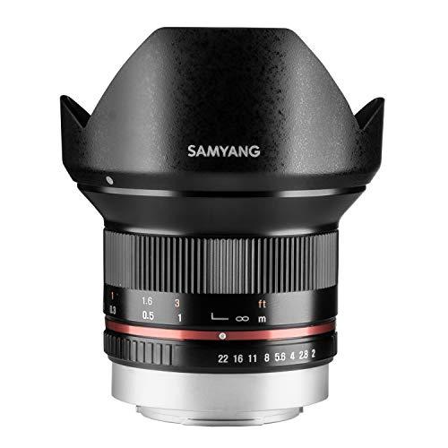 Samyang 12/2,0 Objektiv APS-C Fuji X manueller Fokus Fotoobjektiv, Weitwinkelobjektiv schwarz