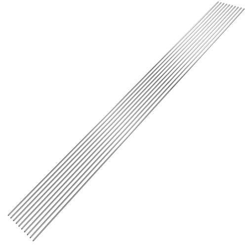 Vpuquuz 1,6 / 2mm Niedrigtemperatur-Lötstangen Leichtes Schweißen Aluminium-Lötdraht Al-Cored Kein Bedarfs-Lötpulver (20, 2mm)