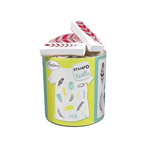 Aladine 05266 Stampo Textilfedern