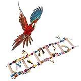 Autone Spielzeug für Papageien, Mehrfarbig, Holzleiter, Spielzeug für Papageien