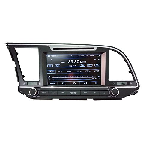 8 Inch Touch Screen Car GPS Navigation for HYUNDAI ELANTRA AVANTE MD 2016-2017 Stereo DVD Player Video Radio Audio Bluetooth Steering Wheel Control AUX IN+Free Rear View Camera+Free GPS Map of USA