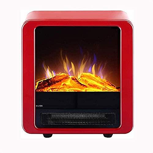 CHICAI Comfort Zone Mini cerámica de Mesa Calentador Chimenea for Uso en Interiores, Rojo