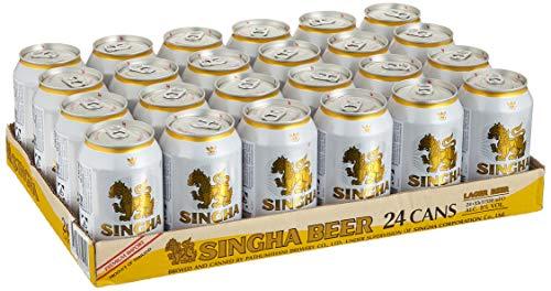 SINGHA Original thailändisches Dosenbier (Einwegpfand, 5% vol.) 24er Pack (24 x 0,33l)