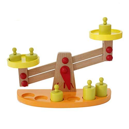 Knowooh Toy Scales Balance Toy Balance Scale Juego de matemáticas Juguetes con 6 Pesos contando y calculando, Juguetes de Habilidad Juguetes educativos Juguetes de Escalas matemáticas