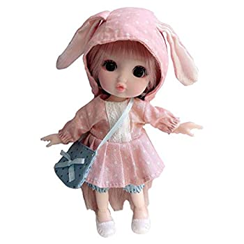 chengfang BJD Doll 16CM 1/4 Princess Dolls Ball Jointed Doll Movable Joints BJD Princess Doll BJD Doll Princess Toy with Full Set Clothes Shoes Wig Makeup Best Gift for Girls