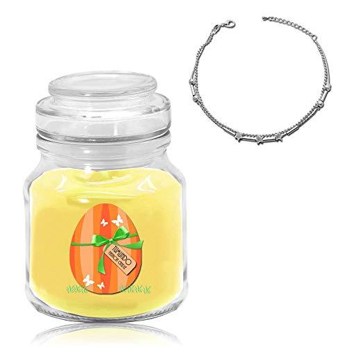 Vela de Joyería Tumundo Vela con Joyería Oreja Collar de Pascua Huevo de Pascua Vela Perfumada, Joya:Tobillera