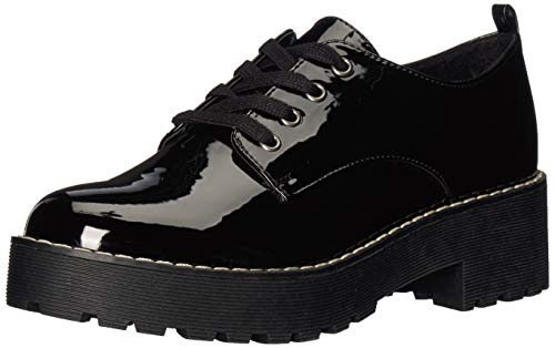 Dirty Laundry by Chinese Laundry Women's MELODIES Oxford, Black Patent, 5.5 M US