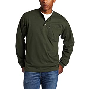 Men's Big and Tall Big & Tall Long Sleeve Heavyweight 3-Button Po...